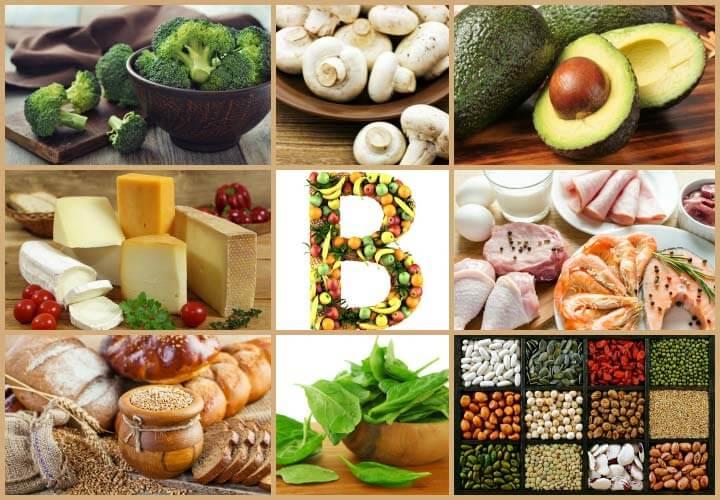Витамины группы B в продуктах