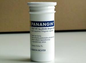 Панангин содержит калий