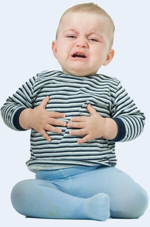 Причины детской отрыжки