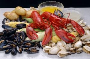 Много калия содержится в морепродуктах