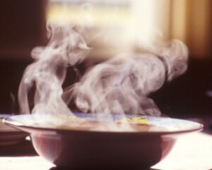 Ожог от горячей пищи