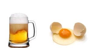 Пиво с желтками