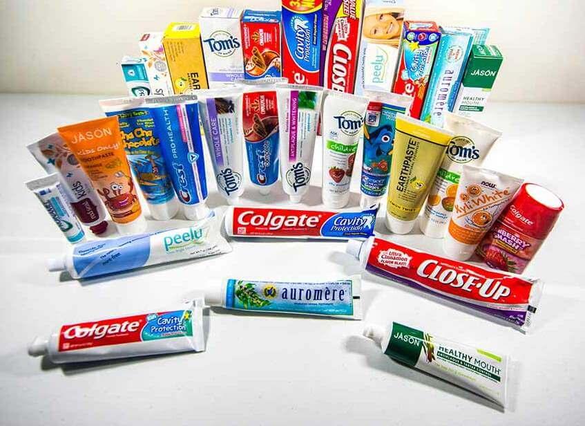 Ассортимент лечебных паст для зубов