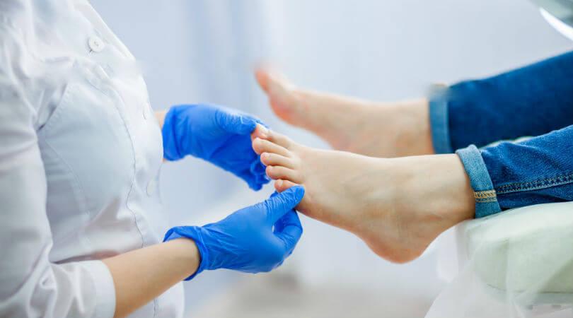 Медицинский осмотр ног
