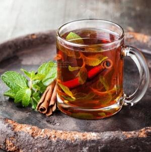 Мятный чай с корицей