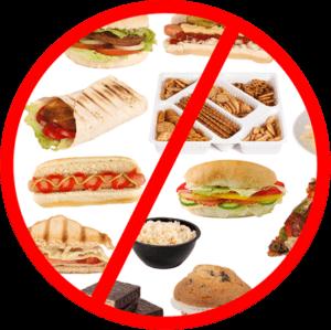 Исключить вредную пищу