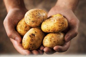 Домашние свечи из картофеля