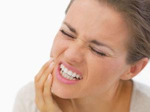 Боль при жевании и надавливании челюстей