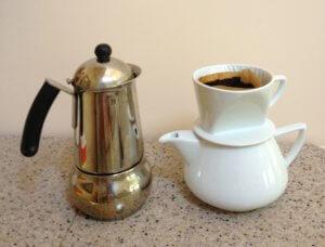 Черный заварной кофе