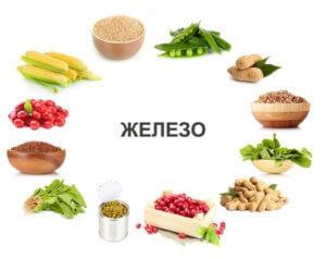 Растительные продукты с железом