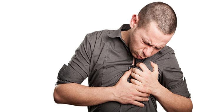 Приступы удушья вместе с болью