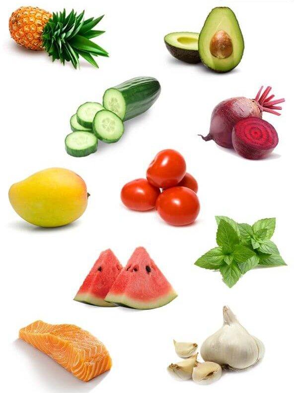 ПОлезные продукты для чистой кожи