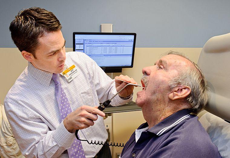 Исследование горла