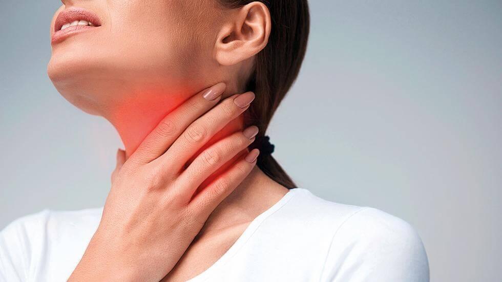 Дерущие боли в горле