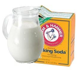 Молоко и сода эффективны вместе