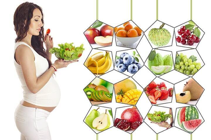 Овощи и фрукты для беременной
