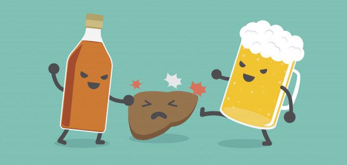Агрессивное воздействие на печень